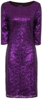 Next Womens HotSquash Purple Sequin Dress