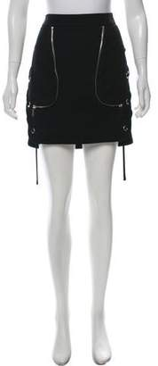 Barbara Bui Lace-Accented Mini Skirt