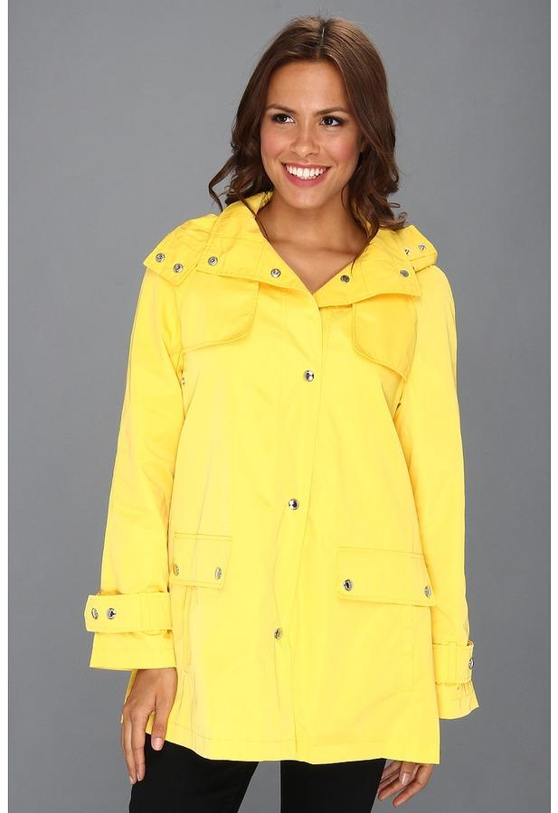 Calvin Klein Packable Rain Jacket CW344304 (Yellow) - Apparel