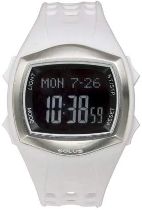 Solus Unisex Digital Watch with LCD Dial Digital Display and White Plastic or PU Strap SL-100-002
