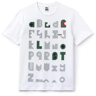 Lacoste Unisex M/M Collab Crew Neck T-shirt With Graphic-Print Jersey