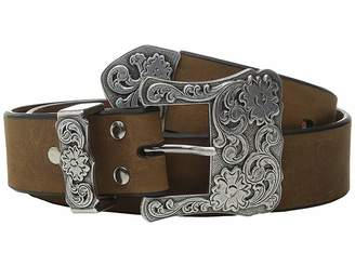 M&F Western Three-Piece Silver Buckle Belt
