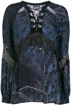 Just Cavalli cut-out detail blouse