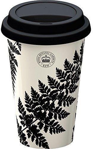 Creative Tops Royal Botanic Gardens Kew-Black Ferns Double Walled Travel Mug