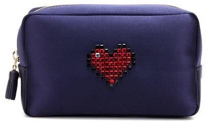 Anya Hindmarch Heart satin pouch