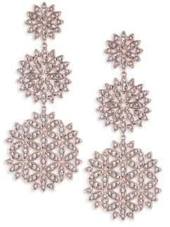 Adriana Orsini Pavé Snowflake Drop Earrings