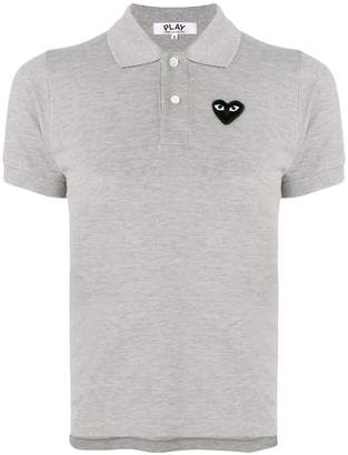 Comme des Garcons heart patch polo shirt