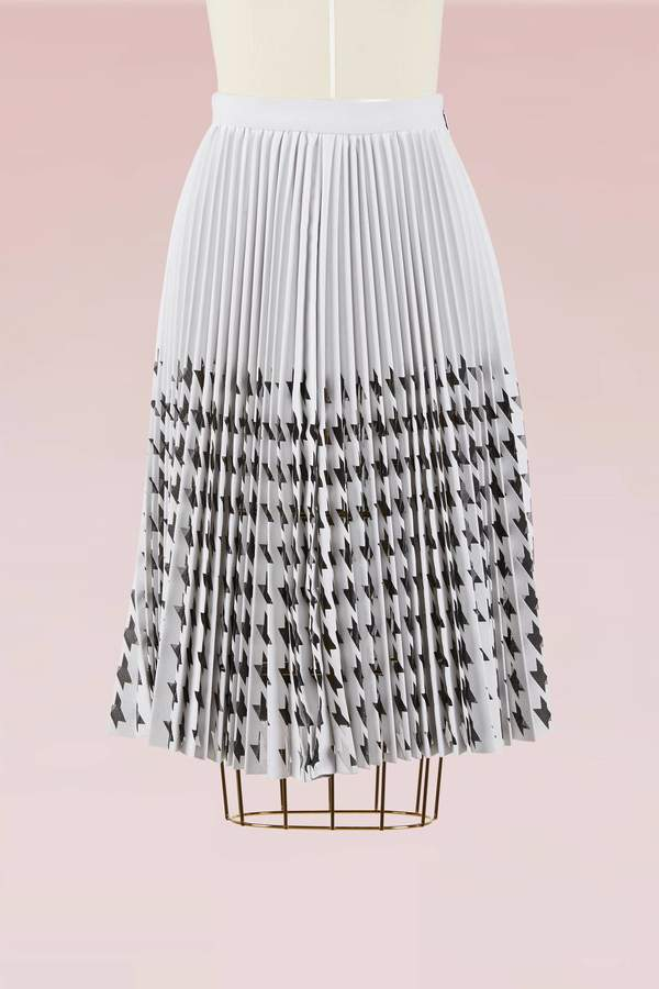 Msgm Laser cut houndstooth skirt