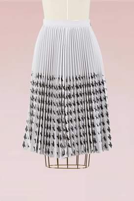 MSGM Laser cut houdnstooth Skirt