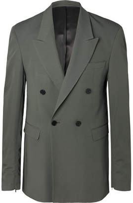 Sage Ellis Double-Breasted Wool-Twill Suit Jacket