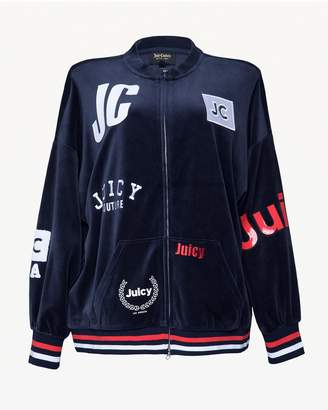 Juicy Couture Mixed Logo Velour Jacket