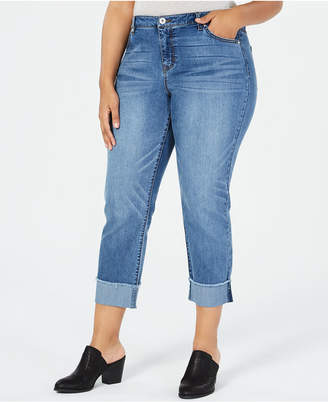 Style&Co. Style & Co Plus Size High-Rise Boyfriend-Fit Jeans, Created for Macy's