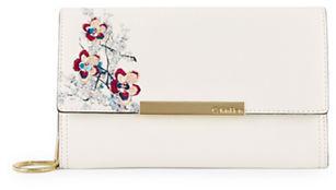 Calvin KleinCalvin Klein Floral Saffiano Leather Clutch