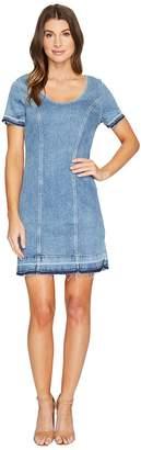 7 For All Mankind Short Sleeve Shift Dress w/ Released Hem Rockaway in Beach 2 Women's Dress