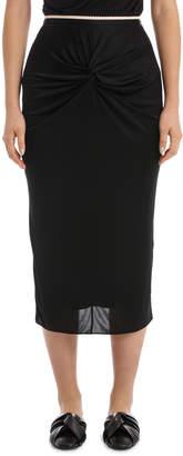 No.21 No 21 Black Midi Skirt