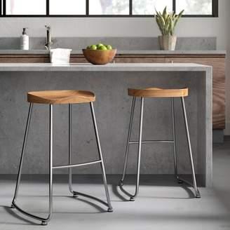 Greyleigh Brookshire Solid Wood/Metal Counter Stool Set Greyleigh