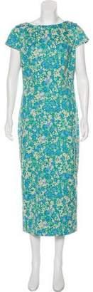 Lela Rose Floral Midi Dress