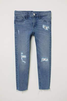 H&M Skinny Fit Worn Jeans - Blue