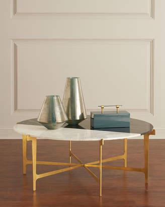 ... Global Views Yin Marble U0026 Gold Leaf Coffee Table