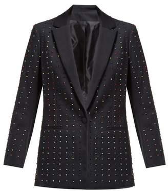 Koché Bead Embellished Cotton Blend Blazer - Womens - Black Multi