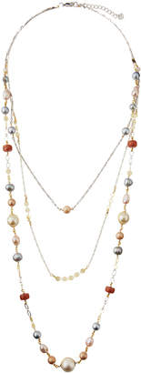 Nakamol Triple-Layered Multicolor Pearl Necklace