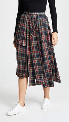 pushBUTTON Plaid Ruffle Skirt