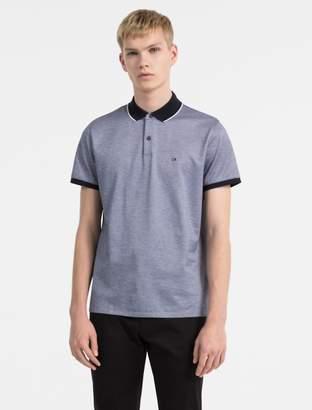 Calvin Klein slim fit cotton pique polo shirt