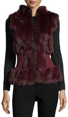 Belle Fare Rabbit Fur Vest