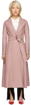 Harris Wharf London Pink Wool Long Duster Coat