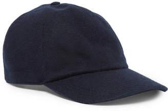 Brunello Cucinelli Leather-Trimmed Cashmere Baseball Cap