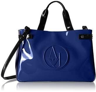 Armani Jeans Color Blocked Eco Patent Shopper