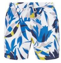 0404edeb10 BOSS Floral-print swim shorts in quick-dry fabric