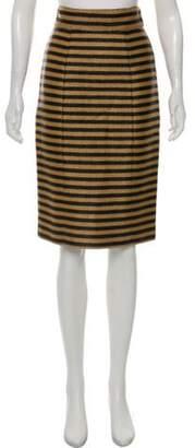 Burberry Striped Woven Skirt Navy Striped Woven Skirt