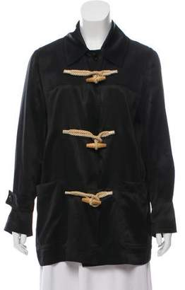 Burberry Toggle-Accented Silk Jacket