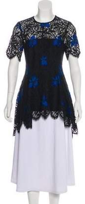 Lela Rose Floral Lace Tunic