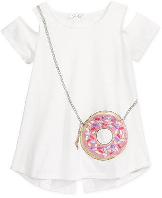 Jessica Simpson Donut Cold-Shoulder Pocket T-Shirt, Big Girls (7-16) $34.50 thestylecure.com