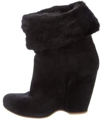 Giuseppe Zanotti Fur-Trimmed Ankle Boots