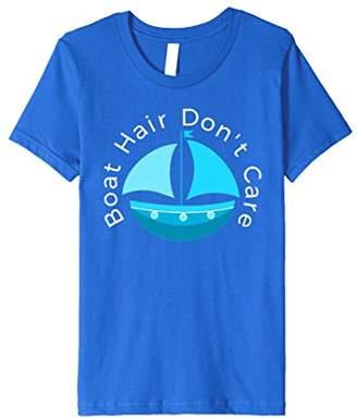 """""""Boat Hair Don't Care"""" Cruise Ship Sailboat Skiing T-Shirt"""