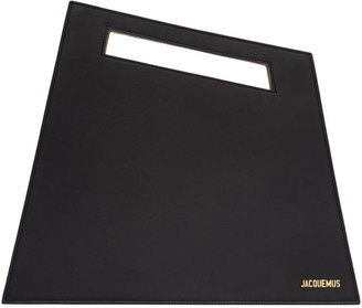 Jacquemus Black 'Le Grand' Clutch $935 thestylecure.com