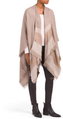 Lightweight Woven Striped Ruana