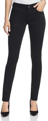 Mavi Jeans Alexa Mid Rise Skinny Jeans in Jet Black