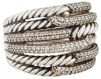 David Yurman Diamond Labyrinth Triple Loop Ring