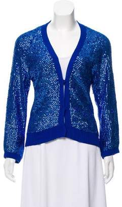 Louis Vuitton Sequined V-Neck Cardigan