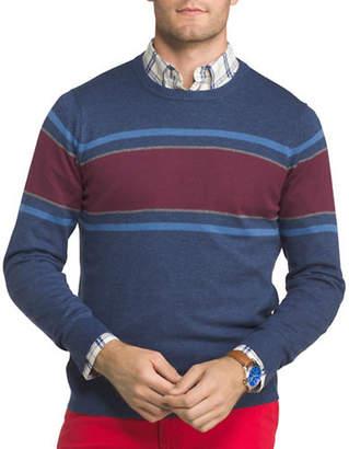Izod Chest Striped Textured Sweater