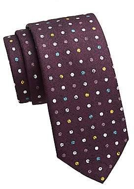 Saks Fifth Avenue Men's COLLECTION Polka Dot Silk Print Tie