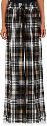 Robert Rodriguez Women's Plaid Cotton-Blend Flannel Pants