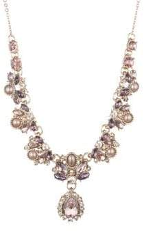 Marchesa Crystal and Faux-Pearl Statement Necklace