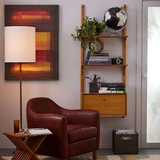 west elm Mid-Century Wall Shelving + Cabinet Set