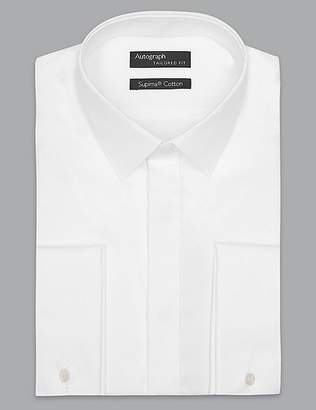 Marks and Spencer Supima® Cotton Tailored Fit Dinner Shirt