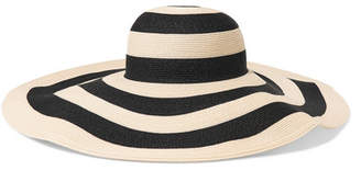 Eugenia Kim Sunny Striped Paper-blend Sunhat - Black